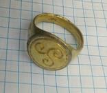 Перстень КР срібло в позолоті ''Тріскел'' (повторно) photo 6