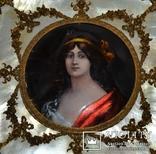 """Портретная миниатюра """"Последняя королева Пруссии Луиза"""", эмаль, медь, XVIII в. Оригинал"""