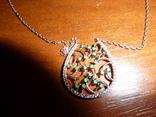 Ожерелье с натуральными изумрудами, фото №3