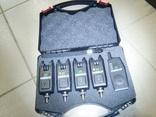 Набор электронных сигнализаторов поклевки 4+1 в кейсе