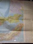Две карты туристические,Ялта 1977 г.,Крым 1980 г., фото №6