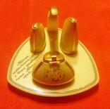 Набор настольный подарочный: горчичница, солонка, перечница, 1968 год, фото №2