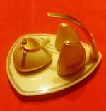 Набор настольный подарочный: горчичница, солонка, перечница, 1968 год, фото №3