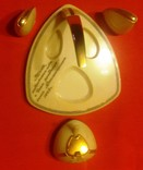 Набор настольный подарочный: горчичница, солонка, перечница, 1968 год, фото №7