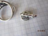Кольцо и серьги серебро 925 цирконий, фото №5