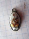 Кольцо и кулон мельхиор финифть, фото №6
