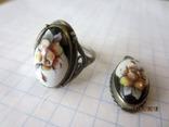 Кольцо и кулон мельхиор финифть, фото №2