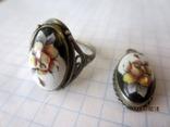 Кольцо и кулон мельхиор финифть, фото №8