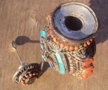 Серебряная бутылка с кораллом и лазуритом., фото №10