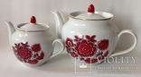 Сервиз Красный цветок. Фарфор, Тернополь., фото №7