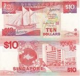 Singapore Сингапур - 10 Dollars 1988 UNC JavirNV, фото №2