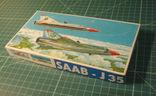 Сборная модель самолёта SAAB-J35. ГДР для СССР. photo 2