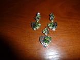 Гарнитур с натуральными диопсидами и хризолитами, фото №2