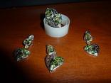 Гарнитур с натуральными диопсидами и хризолитами, фото №5