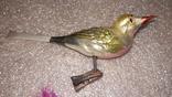 Елочные птички на прищепке 2 шт СССР, фото №6