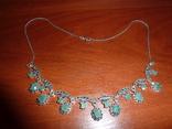 Ожерелье с натуральными изумрудами в стиле *винтаж*, фото №2