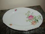 Антикварное блюдо тарелка фарфор клеймо Weimar Porzellan Веймар Германия