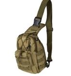 Сумка-рюкзак тактическая плечевая(Хаки).Блиц.