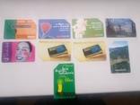 Набір з 9 телефонних карток, фото №2