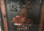 Навесной шкафчик резной, фото №7
