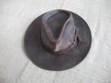 Шляпа кожаная вестерн Lagomarsino p. L ( Сост Нового ) Оригинал, фото №3