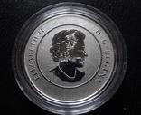 25 долларов 2016 Канада - новогодние бобры UNC серебро 999 пр. (0.14.3), фото №4
