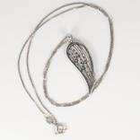 """Серебряная подвеска """"крыло ангела"""" на серебряной цепочке, фото №3"""