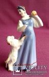 Статуэтка Царевна с яблочком. Фарфор. Песочное 1955 г., фото №2