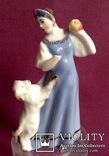 Статуэтка Царевна с яблочком. Фарфор. Песочное 1955 г., фото №3