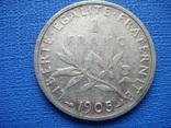 1 франк 1905,Франция, фото №2