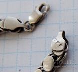 Цепь серебро 46 см №151, фото №6