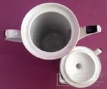 Сервиз кофейный. Стильный. Фарфор. Позолота 12 предметов., фото №6