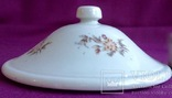 Крышка большая от суповой вазы старинной. Фарфор. Предположительно - Кузнецов., фото №6