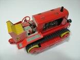 Раритетная игрушка ГДР бульдозер из жести., фото №9