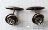 Запонки серебренные №6 photo 1