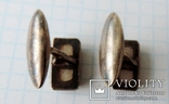 Запонки серебренные №11 photo 6
