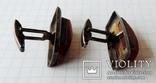 Запонки серебренные №14, фото №5