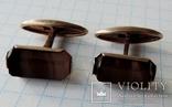 Запонки серебренные №26, фото №9
