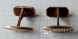Запонки серебренные №26, фото №12