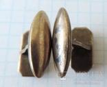 Запонки серебренные №40, фото №9