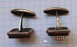 Запонки серебро №46, фото №4