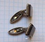 Запонки серебро №46, фото №6