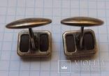 Запонки серебро №46, фото №7
