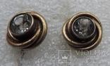 Запонки серебро 875 №50, фото №3