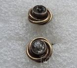 Запонки серебро 875 №50, фото №4