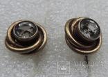Запонки серебро 875 №50, фото №5