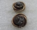 Запонки серебро 875 №50, фото №6