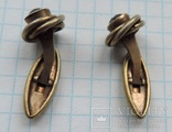 Запонки серебро 875 №50, фото №9