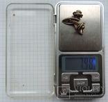 Запонки серебро 875 №50, фото №11