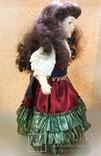 Кукла фарфоровая коллекционная париковая Цыганка 43 см, фото №5